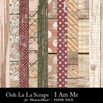 I Am Me Worn Wood Paper Pack-$1.99 (Ooh La La Scraps)