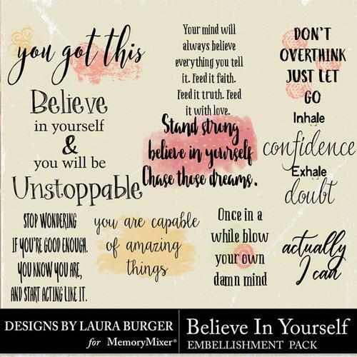 Believe in yourself wordart pack scrapbook page design preview medium solutioingenieria Gallery