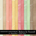 Believe in Yourself Solid Paper Pack-$2.99 (Laura Burger)