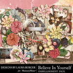 Believe in Yourself Embellishment Pack-$4.29 (Laura Burger)