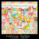 Pool Party Combo Pack-$4.99 (CutiePie Scraps)