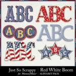 Red White Boom Alphabet Pack-$3.49 (Just So Scrappy)