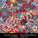 Red White Boom Combo Pack-$4.99 (Just So Scrappy)