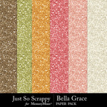 Bella Grace Glitter Paper Pack-$1.99 (Just So Scrappy)
