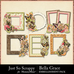 Bella Grace Cluster Frames-$1.99 (Just So Scrappy)