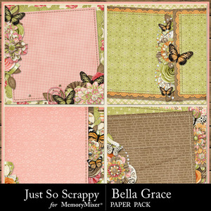 Bella grace stacked papers medium