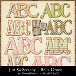 Bella Grace Alphabet Pack-$3.49 (Just So Scrappy)