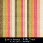 Bella Grace Embossed Papers-$1.99 (Just So Scrappy)