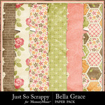 Bella Grace Worn Paper Pack-$1.99 (Just So Scrappy)