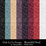 Beautiful Soul Glitter Paper Pack-$1.99 (Ooh La La Scraps)