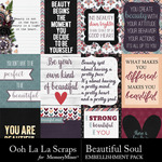 Beautiful Soul Pocket Scrap Cards-$1.99 (Ooh La La Scraps)