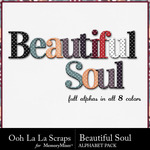 Beautiful Soul Alphabet Pack-$3.49 (Ooh La La Scraps)