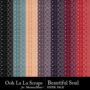 Beautiful soul pattern papers medium