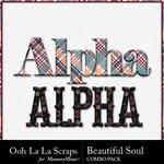 Beautiful soul kit alphabets small