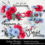 Delight In Everything Cluster Pack-$3.49 (Indigo Designs)