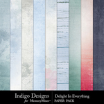 Delight In Everything Paper Pack-$3.49 (Indigo Designs)