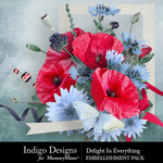 Delight In Everything Embellishments-$4.99 (Indigo Designs)