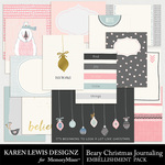 Beary Christmas Journaling Pack-$2.99 (Karen Lewis)