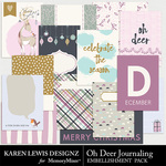 Oh Deer Journaling Pack-$2.99 (Karen Lewis)