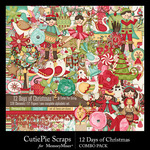 12 Days of Christmas CPS Combo Pack-$7.99 (CutiePie Scraps)