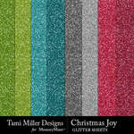 Christmas Joy TM Glitter Paper Pack-$2.99 (Tami Miller)