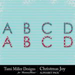 Christmas Joy TM Alphabet Pack-$2.99 (Tami Miller)