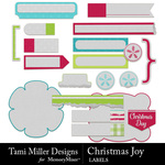 Christmas joy labels small