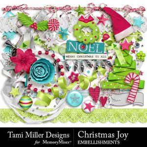Christmas joy embellishments medium
