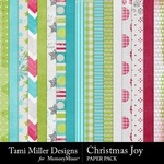 Christmas joy papers small