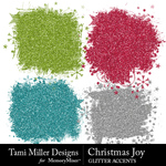 Christmas joy glitter accents small