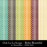 Boho Beautiful OLL Pattern Paper Pack-$1.99 (Ooh La La Scraps)