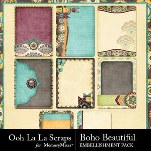 Boho beautiful journal pocket cards medium