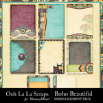 Boho Beautiful OLL Journal Pocket Cards-$1.99 (Ooh La La Scraps)