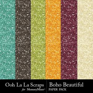 Boho beautiful glitter papers medium