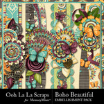 Boho Beautiful OLL Page Border Pack-$1.99 (Ooh La La Scraps)