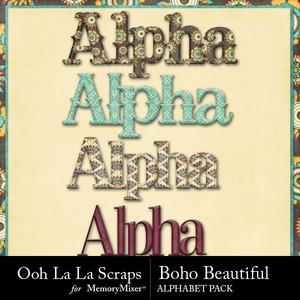 Boho beautiful alphabets medium