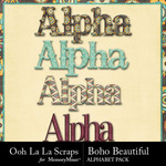 Boho Beautiful OLL Alphabet Pack-$3.49 (Ooh La La Scraps)