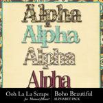 Boho beautiful alphabets small
