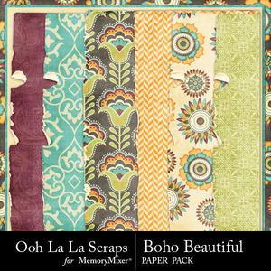Boho beautiful worn papers medium