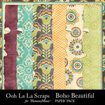 Boho Beautiful OLL Worn Paper Pack-$1.99 (Ooh La La Scraps)