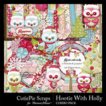 Hootie with Holly Combo Pack-$4.99 (CutiePie Scraps)