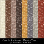 Family tree glitter papers small