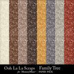 Family Tree Glitter Paper Pack-$1.99 (Ooh La La Scraps)