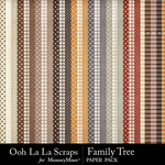 Family Tree Pattern Paper Pack-$1.99 (Ooh La La Scraps)