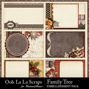 Family tree pocket cards medium
