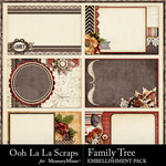 Family Tree Pocket Cards Pack-$1.99 (Ooh La La Scraps)