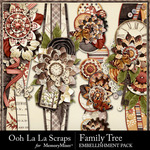 Family Tree Page Borders Pack-$1.99 (Ooh La La Scraps)