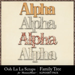 Family Tree Alphabet Pack-$2.99 (Ooh La La Scraps)