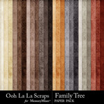 Family Tree Grungy Solid Papers-$1.99 (Ooh La La Scraps)