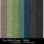 Selfie TM Glitter Paper Pack-$1.40 (Tami Miller)